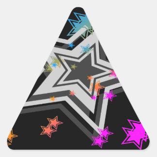 Stjärnor för vintage för Corey tiger80-tal Triangelformat Klistermärke