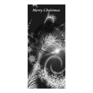 Stjärnor för vit för Rackcards jul svart Reklamkort 10 X 23 Cm