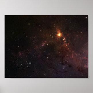 Stjärnor i utrymme print