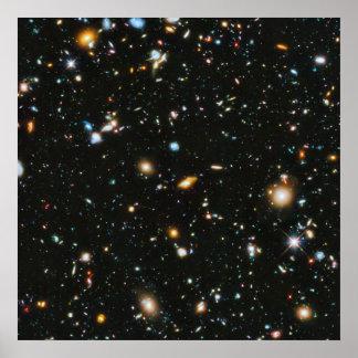 Stjärnor i utrymme - Hubble Ultra djupt fält Poster