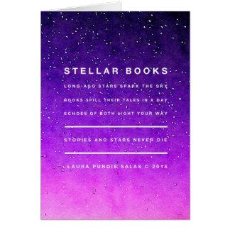 Stjärnor och bokar OBS kort