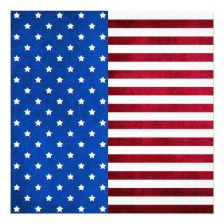 Stjärnor och Rand-Amerikan flagga Fototryck