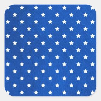 Stjärnor på tygstruktur av Shirley Taylor Fyrkantigt Klistermärke