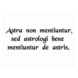 Stjärnorna ljuger aldrig, men astrologerna ljuger vykort