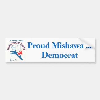 StJoeCountyDemslogo stolt Mishawaka demokrat Bildekal