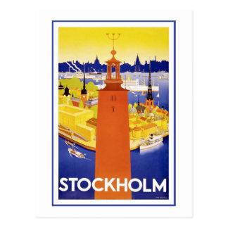 Stockholm vintage resoraffisch vykort