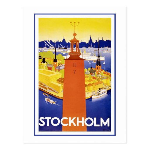 """Stockholm"" vintage resoraffisch Vykort"