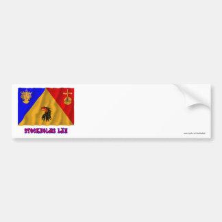 Stockholms län som vinkar flagga med namn bildekal