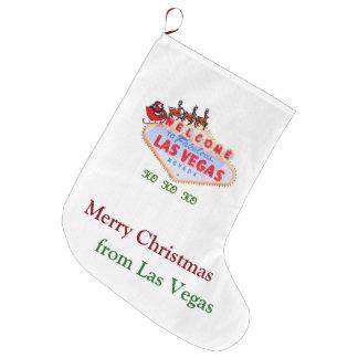 Stocking. för Las Vegas jul Stor Julstrumpa