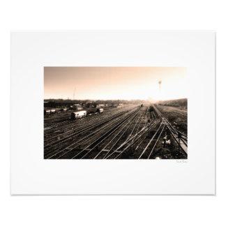 "Stockton Railyard 20"" x16 "", Fototryck"