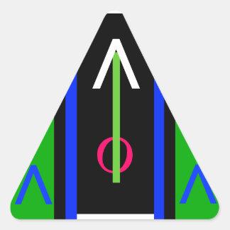 Stöd för minnet för verktyg för uppehälle för triangelformat klistermärke