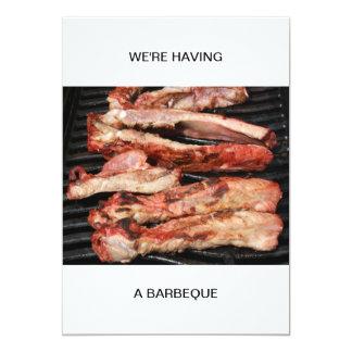 Stöd har vi en grillfest 12,7 x 17,8 cm inbjudningskort