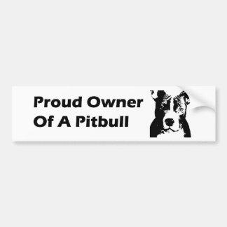 stolt ägare av bildekal för en pitbull