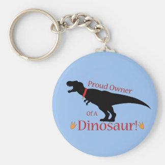 Stolt ägare av en Dinosaur Rund Nyckelring