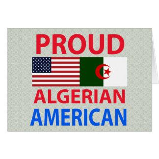 Stolt algerisk amerikan hälsningskort