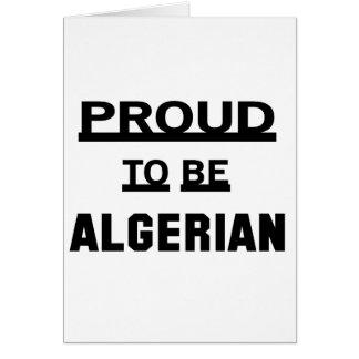 Stolt att vara Algerian. Hälsningskort