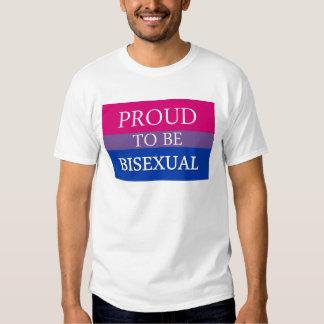 Stolt att vara bisexuellt tshirts