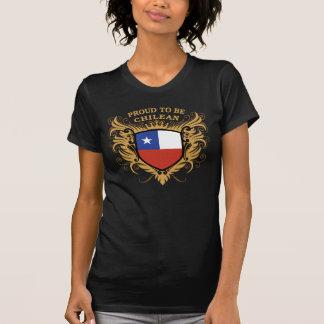 Stolt att vara chilenskt tee shirt
