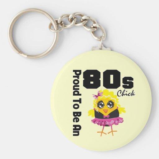 Stolt att vara en 80-talchick nyckel ring