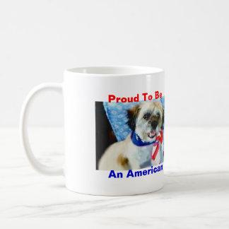 Stolt att vara en amerikan kaffemugg