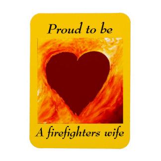 Stolt att vara en brandman fru magnet
