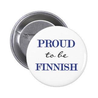 Stolt att vara finlandssvenskt standard knapp rund 5.7 cm