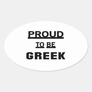 Stolt att vara grekiskt ovalt klistermärke