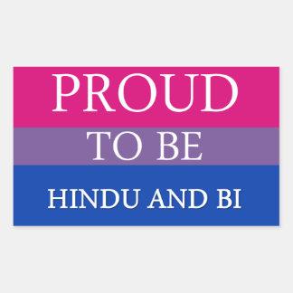 Stolt att vara hinduiskt och Bi Rektangulärt Klistermärke