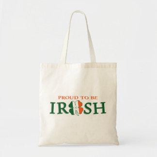 Stolt att vara irländskt tygkasse