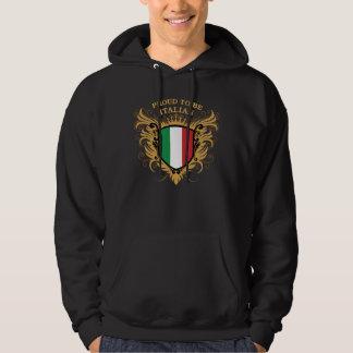 Stolt att vara italienskt sweatshirt med luva