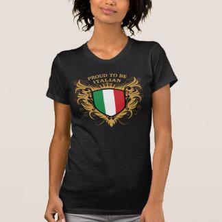 Stolt att vara italienskt t-shirt