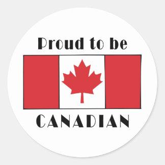 Stolt att vara kanadensiskt runt klistermärke