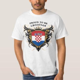 Stolt att vara kroatiskt tshirts