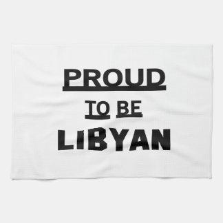 Stolt att vara libyskt kökshandduk