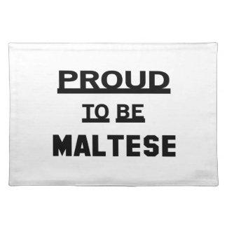 Stolt att vara maltesiskt bordstablett