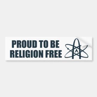 Stolt att vara religionen frigör! bildekal