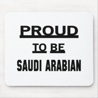 Stolt att vara saudiarabiskt musmatta