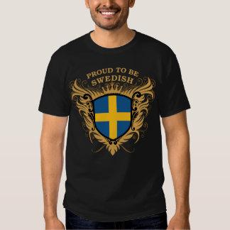 Stolt att vara svenskt t-shirts