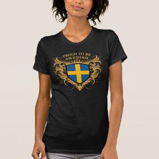Stolt att vara svenskt tee shirts