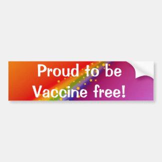 Stolt att vara vaccinet frigör! bildekal