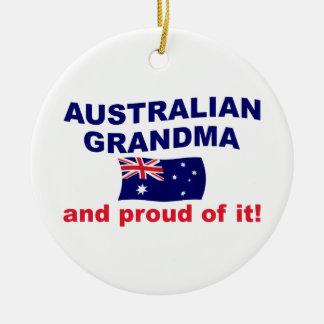 Stolt australiensisk mormor julgransprydnad keramik