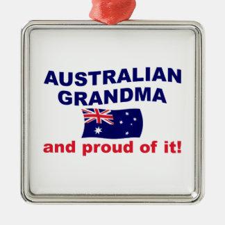 Stolt australiensisk mormor julgransprydnad metall