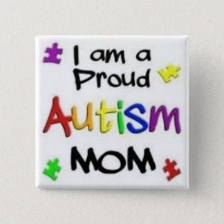 Stolt Autismmamma Standard Kanpp Fyrkantig 5.1 Cm