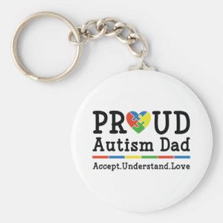 Stolt Autismpappa Rund Nyckelring