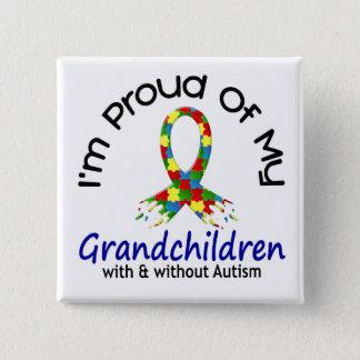 Stolt av min barnbarn med & utan Autism Standard Kanpp Fyrkantig 5.1 Cm