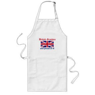 Stolt brittisk mormor långt förkläde