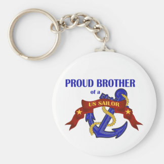 Stolt broder av en US-sjöman Rund Nyckelring