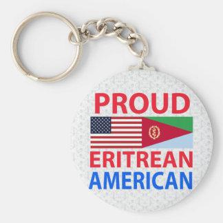 Stolt eritreansk amerikan rund nyckelring