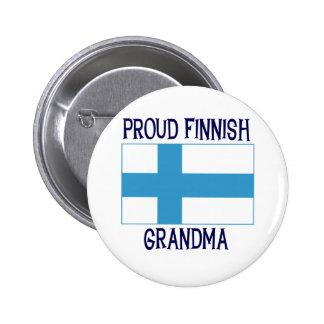 Stolt finlandssvensk mormor standard knapp rund 5.7 cm