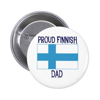 Stolt finlandssvensk pappa standard knapp rund 5.7 cm
